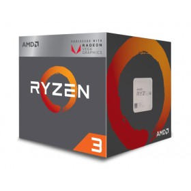 AMD CPU Ryzen 3 2200G, 3.5GHz, 4 Cores, AM4, 6MB, Radeon Vega 8 Graphics- AMD