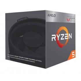 AMD CPU Ryzen 5 2400G, 3.6GHz, 4Cores, 6MB, AM4, Radeon RX Vega Graphics- AMD
