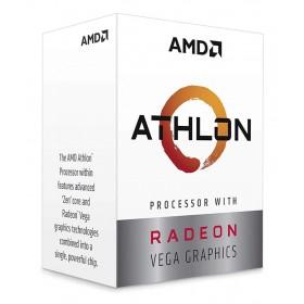 AMD CPU Athlon 3000G, 3.5GHz, 2 Cores, AM4, 5MB, Radeon Vega 3 Graphics- AMD