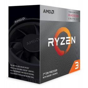 AMD CPU Ryzen 3 3200G, 3.6GHz, 4Cores, 6MB, AM4, Radeon Vega 8 Graphics- AMD