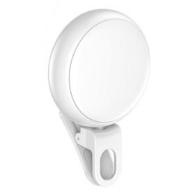 USAMS LED προβολέας για selfie, RGB led, 300mAh, λευκός- USAMS