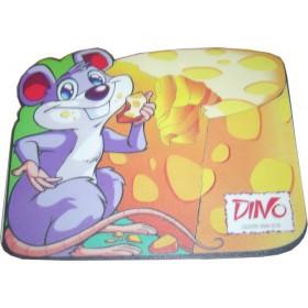 HARD PVC mouse Pad σε σχήμα ποντικιού που τρώει τυρί   230 X 180 X 3mm- BULK - MP-2