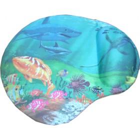 CLOTH+4mm R.S mouse Pad GEL απεικονίζει την θάλασσα με τα ψάρια 205 X 230 X 25mm- BULK - MP-5
