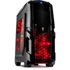 Computer Case Inter-Tech Q2 Illuminator Red - INTER-TECH