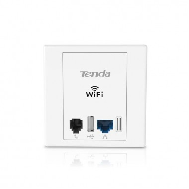 Access Point Tenda W6 Wireless N300 Wall Plate - TENDA