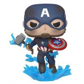 Funko POP! Marvel: Avengers Endgame - Captain America with Broken Shield  Mjolnir #573 Bobble-Head Vinyl Figure