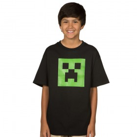 Jinx Minecraft Creeper Glow Youth Tee 13-14 years