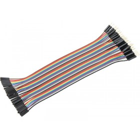 40pcs 20cm 1p-1p Plug to Socket jumper wire M/F - AC046