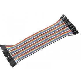 40pcs 20cm 1p-1p socket to socket jumper wire FF - AC045