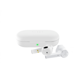 Razer HAMMERHEAD TRUE WIRELESS MERCURY - Bluetooth 5 - Water Resistance Earbuds & Charging Case