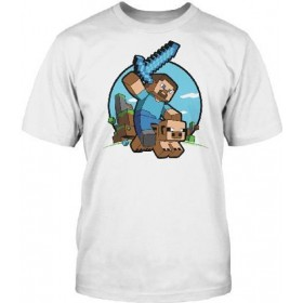 Jinx Minecraft  Pig Riding T-Shirt (XL)