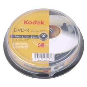 KODAK DVD-R Printable 16x 4.7GB 10-Pack - KODAK