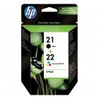 HP Μελάνι Inkjet 2 Pack No.21 & No.22  (SD367AE) (HPSD367AE)