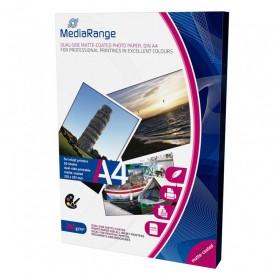 Φωτογραφικό Χαρτί MediaRange για Inkjet Εκτυπωτές A4 Dual-side Matte 200g/m² 50 Φύλλα (MRINK102)
