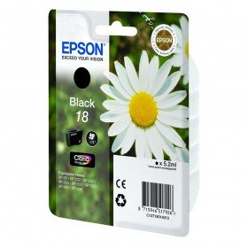 Epson Μελάνι Inkjet No.18 Black (C13T18014012) (EPST180140)