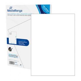 MediaRange Ετικέτες Γενικής Χρήσης 210χ297mm. Λευκές (50 Pack) (MRINK140)