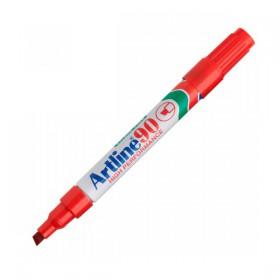 Μαρκαδόρος Ανεξίτηλος ARTLINE 90  Μύτη Πλακέ 1.5 mm (Kόκκινο) (ART90152)