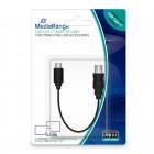 Καλώδιο MediaRange USB Type-C™ adapter, USB Type-C plug/USB 3.1 socket, 15cm, black (MRCS169)