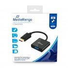 Καλώδιο MediaRange SVGA to DisplayPort™ converter, VGA socket/DP plug, 15cm, black (MRCS173)
