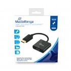 Καλώδιο MediaRange HDMI™ High Speed to DisplayPort™ converter, gold-plated, HDMI socket/DP plug, 18 Gbit/s data transfer rate, 20cm, black (MRCS177)