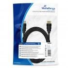 Καλώδιο MediaRange HDMI™ High Speed with Ethernet connection cable, gold-plated contacts, 18 Gbit/s data transfer rate, 3.0m, cotton, black (MRCS198)