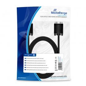 Καλώδιο MediaRange SVGA monitor connection cable, VGA/VGA, 1.8m., Black (MRCS105)