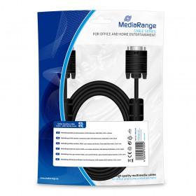 Καλώδιο MediaRange SVGA monitor connection cable, with ferrite cores, VGA/VGA, 3.0m., Black (MRCS114)