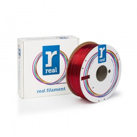 REAL PETG 3D Printer Filament - Translucent Red - spool of 1Kg - 2.85mm (REFPETGRED1000MM3)
