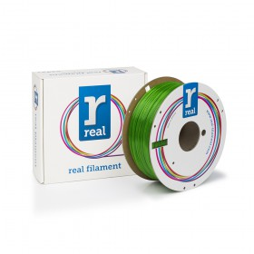 REAL PETG 3D Printer Filament - Green - spool of 1Kg - 1.75mm (REFPETGSGREEN1000MM175)