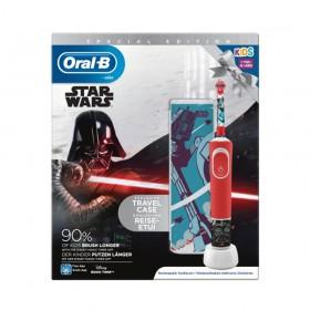 Ηλεκτρική Οδοντόβουρτσα Oral-B Kids D100 Star Wars + Travel Case (D100KSW)