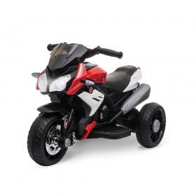 HOMCOM Ηλεκτρονική μοτοσικλέτα για παιδιά 3-6 ετών με Μπαταρία 6V  Μουσικής Μαύρο Κόκκινο (370-103V90RD) (HOM370-103V90RD)