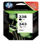 Cartridge HP Inkjet No 338/343 Combo-pack Inkjet Print Cartridges-