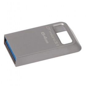 USB 3.1/3.0 Kingston 64GB DTMicro Type-A metal ultra-compact flash drive- Kingston