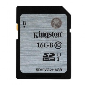 SDHC Kingston 16GB Class10 UHS-I 45MB/s Read Flash Card- Kingston