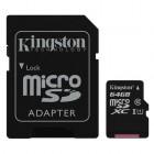 microSDXC Kingston 64GB UHS-I Class 10 Read Card + SD Adapter- Kingston