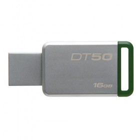 USB 3.0 Kingston 16GB  DataTraveler 50 (Metal/Green)-