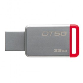 USB 3.0 Kingston 32GB  DataTraveler 50 (Metal/Red)-
