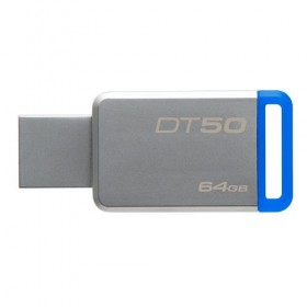 USB 3.0 Kingston 64GB  DataTraveler 50 (Metal/Blue)-
