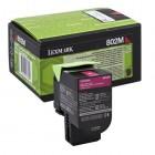 Cartridge LEXMARK Toner No 802SM CX 310/410/510 Return Magenta (2k)-