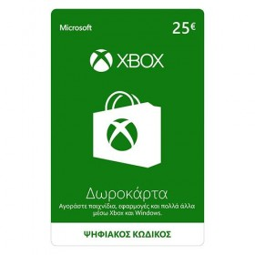 Microsoft Giftcard XBOX Live 25 Euro | Download-
