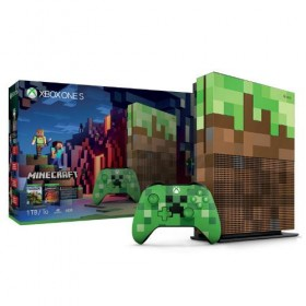 Consoles Microsoft XBOX ONE S 1TB Minecraft Limited Edition-