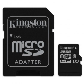 microSDHC Kingston Canvas Select 32GB UHS-I CL10 80Read + SD Adapter-