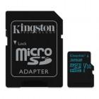 microSDHC Kingston Canvas Go 32GB Class U3 UHS-I V30 Card + SD Adapter-