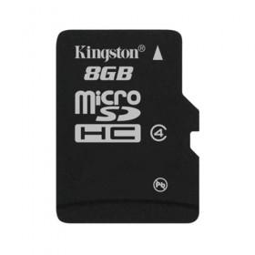 microSDHC Kingston 8GB Class 4 Flash Card- Kingston