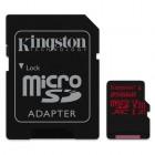 microSDXC Kingston 256GB Canvas React  100R/80W U3 Card + SD Adptr-