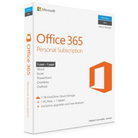 Application Microsoft Office 365 Personal 1 year Greek P4-