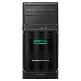 Server HPE ProLiant ML30 Gen10, E-2124, 3.30GHz (4C), S100i (RAID 0/1/5/10) , 1x 8GB UB, no HDD (up to 4 NHP LFF SATA), no optical, 1x350W, 3/1/1-