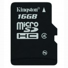 microSD Kingston 16GB DHC Class 4 Flash Card- Kingston