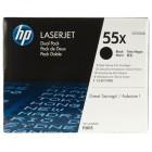 Cartridge HP Laser 55X Black Dual Pack Toner- HP