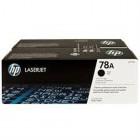 Cartridge HP Laser No 78A Black Dual Pack Toner - HP